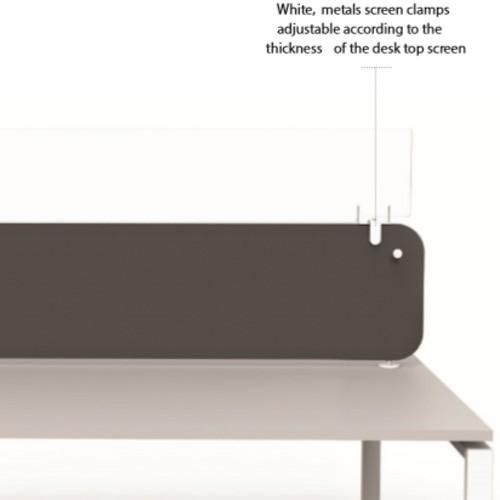 Protect Plexiglass Desk Top Screen Extension 1400mm