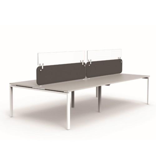 Protect Plexiglass Desk Top Screen Extension 800mm
