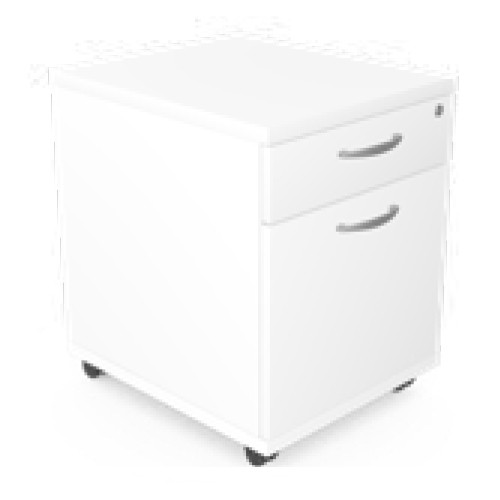 Bud Mobile Pedestal in white