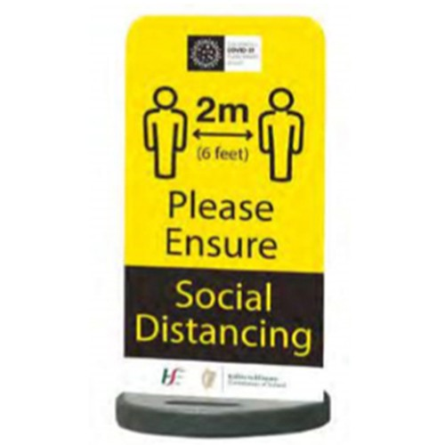 COVID-19 Social Distancing Graphics Eco Flex Sign