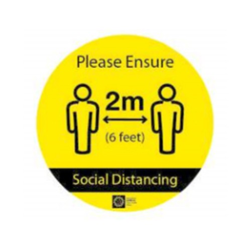COVID-19 Please ensure 2m/6ft Social Distancing Floor Graphics