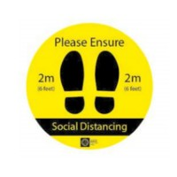 COVID-COVID-19 Social Distancing Floor Graphics