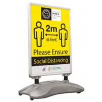 COVID-19 Double Sided Street Sign Graphics 800w