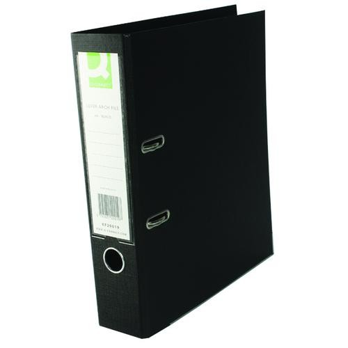 Q-Connect 70mm Lever Arch File Polypropylene A4 Black Single