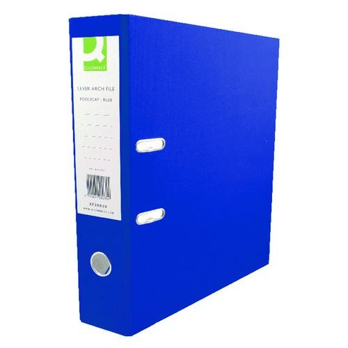 Q-Connect 70mm Lever Arch File Polypropylene A4 Blue Single