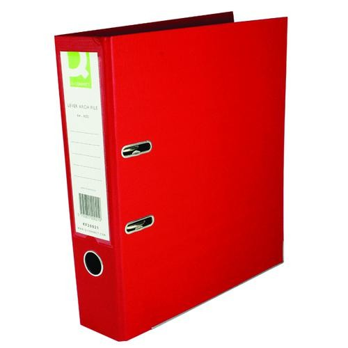 Q-Connect 70mm Lever Arch File Polypropylene A4 Red KF20021