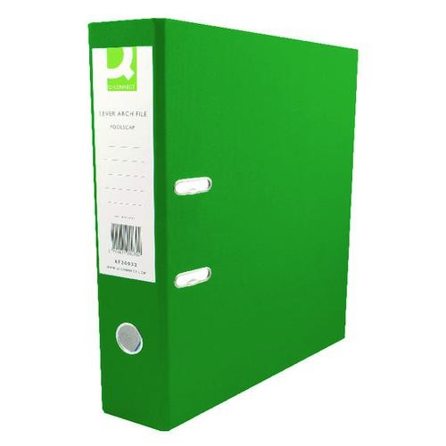Q-Connect 70mm Lever Arch File Polypropylene A4 Green KF20022