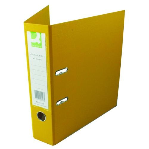 Q-Connect 70mm Lever Arch File Polypropylene A4 Yellow KF20023