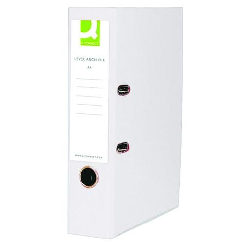 Q-Connect 70mm Lever Arch File Polypropylene A4 White KF20024