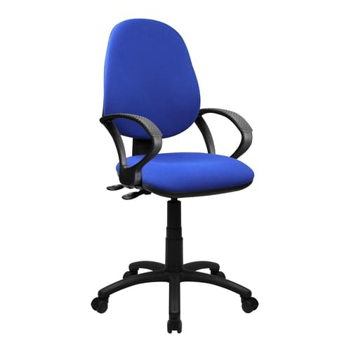 Medium Back Operator Chair - Twin Lever with Fixed Arms