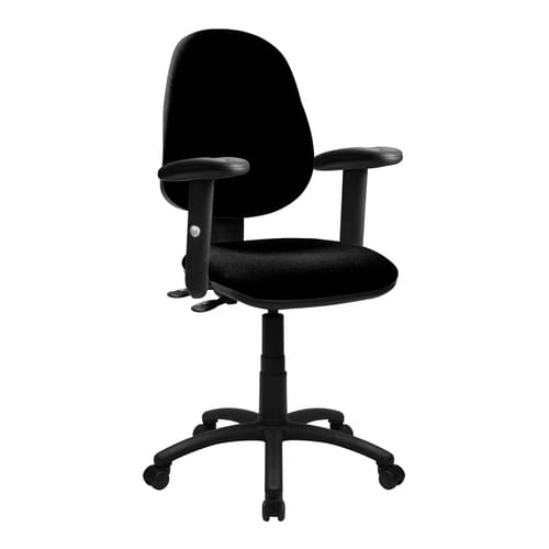Medium Back Synchronous Operator Chair - Triple Lever with Height Adjustable Arms