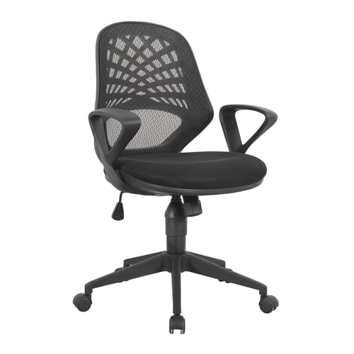 Mesh Back Operator Armchair with Fluted Black Nylon Base