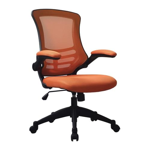 Designer Medium Back Mesh Chair with Folding Arms
