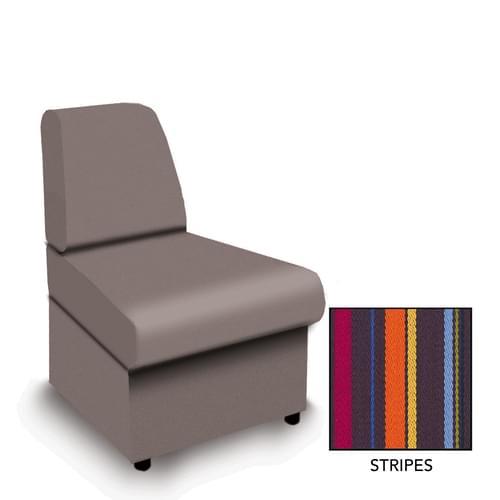 Contemporary Modular Fabric Low Back Sofa - Convex