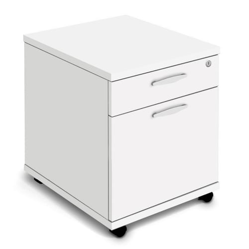 Mobile Pedestal with Castors for Mobility - 2 Drawer