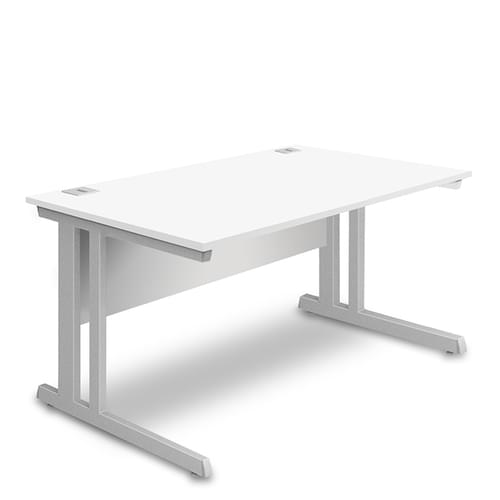 Rectangular Desk - 1000mm Wide with Cable Management & Modesty Panel