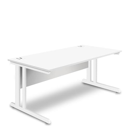 Rectangular Desk - 1600mm Wide with Cable Management & Modesty Panel