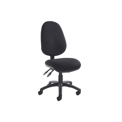 CALEY Black CAL250 Deluxe 3 Lever Larger Seat & Back Operator Chair