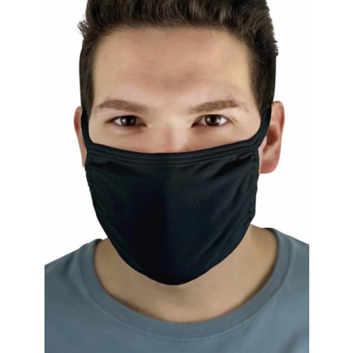 Fruit of the Loom Black Adult face mask (Pack of 5)