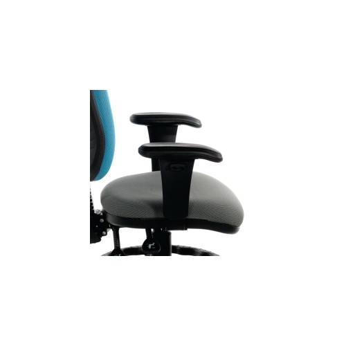 CALEY Adjustable Arms To Suit CAL250 Operator Chair. Black Soft Feel Rest Pad