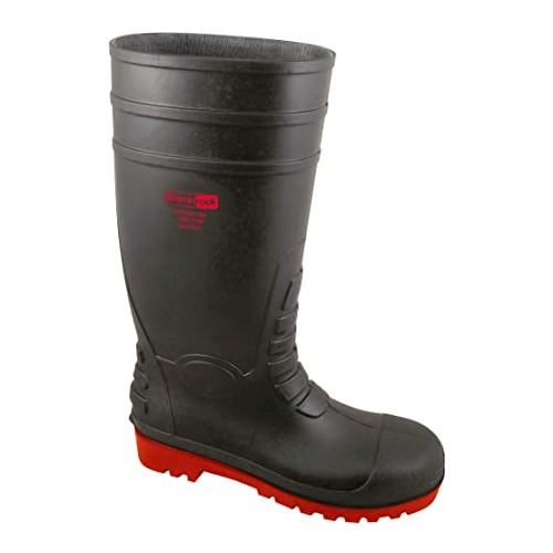 Red Soled Safety Wellington (black)