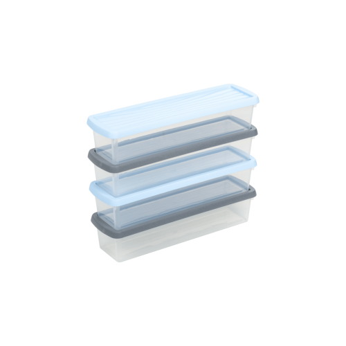 3.01 Wham® Box & Lid 1.9L Set of 4 Clear/Assorted