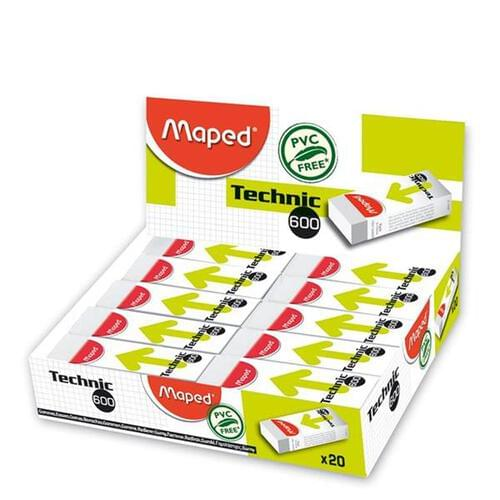 Maped Technic 600 Dust Free Eraser Cdu