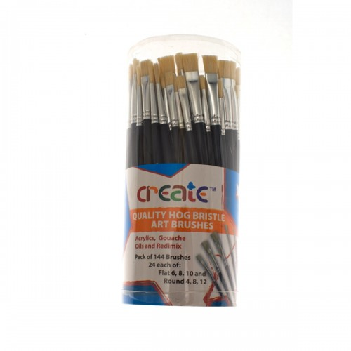 Create Hog Bristle Art Brushes Pk 144