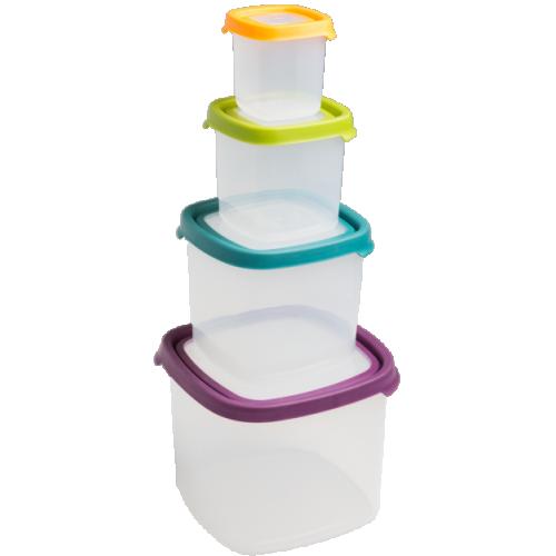 Seal It 4pc SQ Food Box Set (3.5L,1.7L,650ml,230ml)