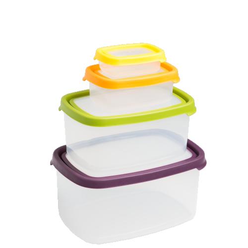 Seal It 5pc Rect FoodBox Set-3.8L,2.1L,1.1L,440ml,115ml