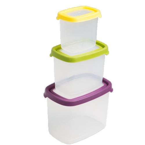 Seal It 3pc Rect Food Box Set (2.1L,1L,430ml)