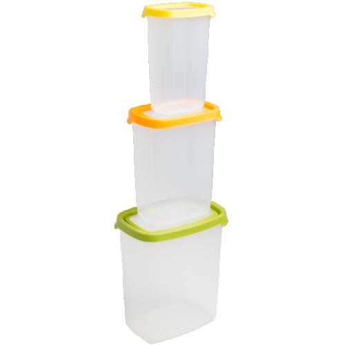 Seal It 3pc Tall Rect Food Box Set (3.2L,1.7L,750ml)