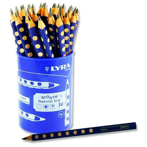 Lyra Groove Junior Natural Grip Pencil Cdu