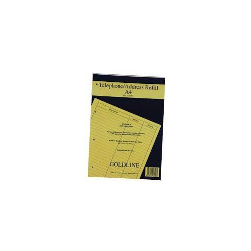 Goldline Address Book Refill Ruled Feint A4 Pack of 1 GA4/R