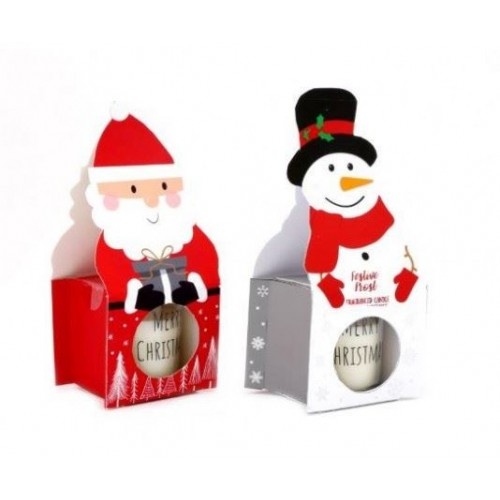 5cm Santa/ Snowman Candlepot 5x6.5cm