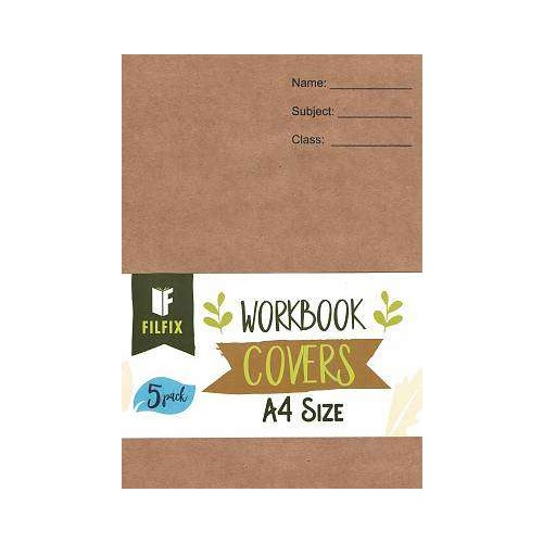 Filfix A4 Size Recylable Brown Paper Covers 5 Pack