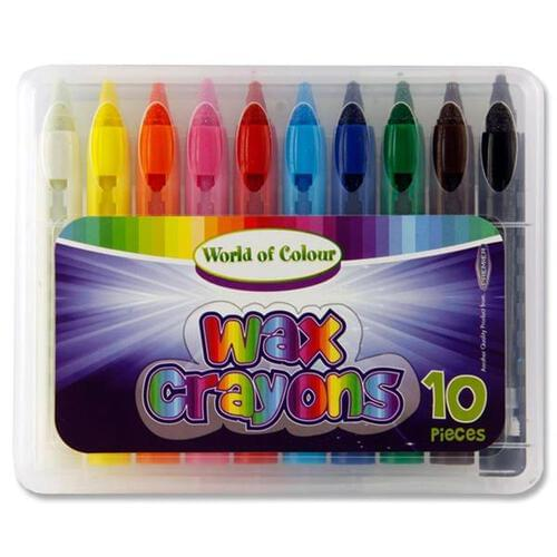 Woc Box 10 Wax Crayons - Water Soluble