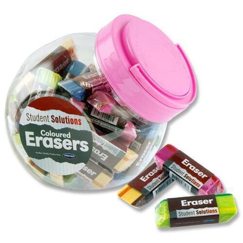 Student Solutions Coloured Eraser (tub) Stripes 4 Asst.