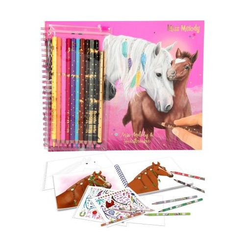 Depesche Miss Melody Colouring Book with Pencils