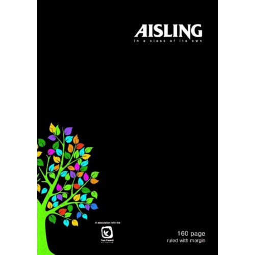 Aisling A4 Casebound book Black 160page