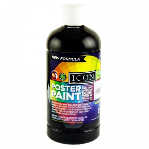 Icon Poster Paint 1000ml - Black