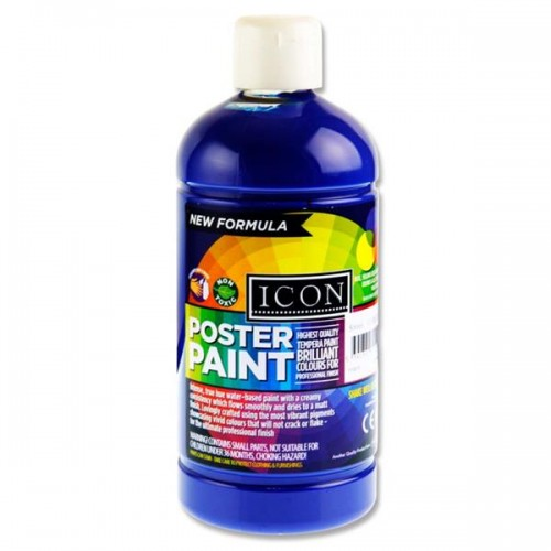 Icon Poster Paint 1000ml - Ultramarine  Blue