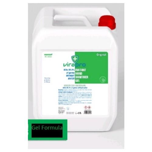 ViraPro 5000ml Alcohol Gel Hand Sanitiser 75% Alcohol,