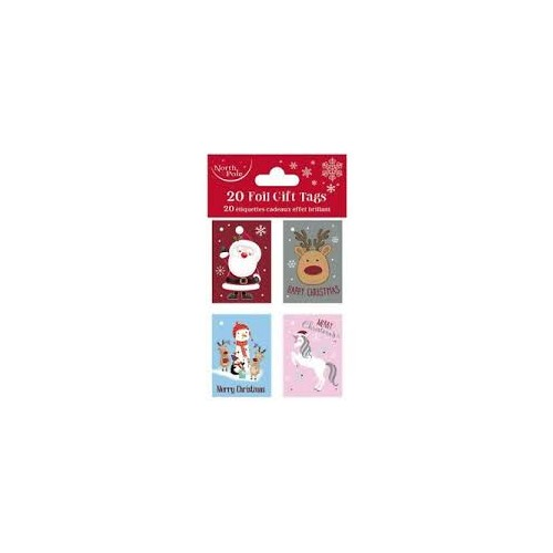 Cute Xmas Booklet Gift Tags 4 piece