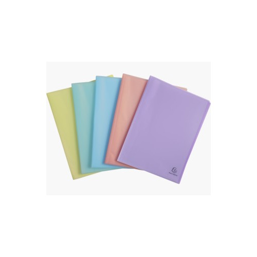 Chromaline Pastel Display book, 20 pockets semi-rigid PP A4 - Assorted colours