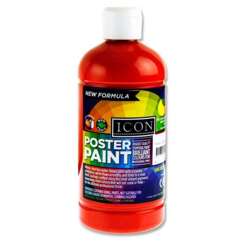 Icon Poster Paint 1000ml - Scarlet