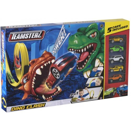 Teamsters Dino Clash Track Set