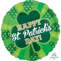 "Dotty Happy St. Patricks Day 18"" Foil Balloon"
