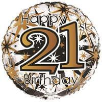 18''  21st Birthday Gold silver