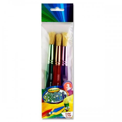 World of Colour Big Grip Brush Set Pk 3